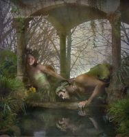 Echo and Narcissus by esstera