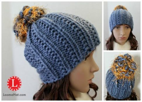 Loom KNit Farrow Stitch Hat by LoomaHat