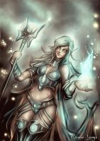 Illumina - Light Elf Mage by GobGrael