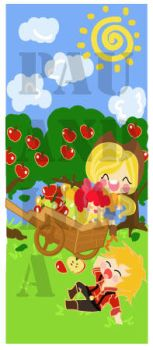 Apple jack and apple family by PauAndLoma