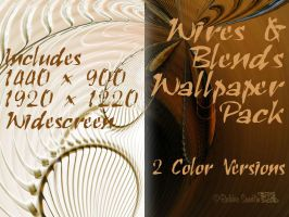 WIRES AND BLENDS Wallpaper by Runs-With-Triangles