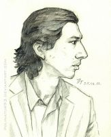 Adam Driver, sketch by polinatur93