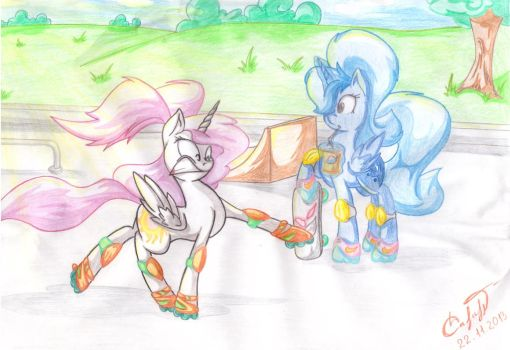 Celestia and Luna on holiday by s4vin