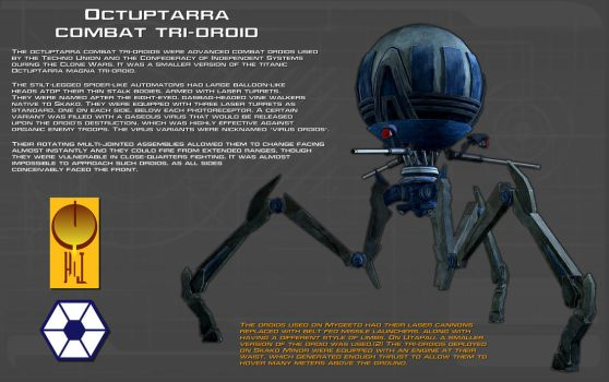 Octuptarra combat tri-droid tech readout [New] by unusualsuspex