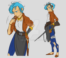 DBZ - AU Story: Downfall - Bulma Briefs - Concepts by RedViolett