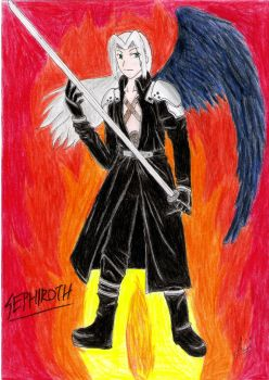 Commission: Sephiroth by ReonaDawn