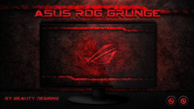 ASUS ROG Grunge Wallpaper - By Beauty Designz by BeautyDesignz