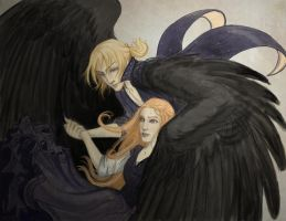 Howl and Sophie by janey-jane