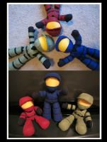 Halo Plush - Red vs Blue - Group 1 by samanthawagner