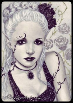 ACEO -- Petals and Thorns by ElvenstarArt