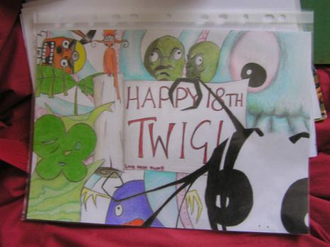 Birthday card for Twig by TingleMelmoth