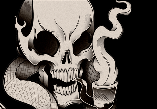 detail skull by PudgyDevilKid