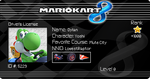 Mario Kart 8 license card by Crystal-The-Shark