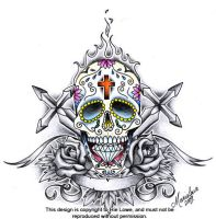 Sugar Skull Crest by onksy