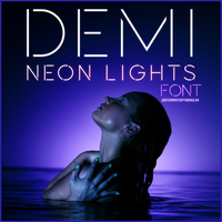 Neon Lights Font. by JustCrankItUpTisdale