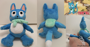 Happy of Fairy Tail Plush *SOLD* by Whyte-Raven