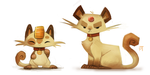DAY 465. Kanto 052 - 053 by Cryptid-Creations