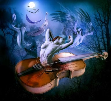 Spiritual soul of the musical instrument -Violine by cylevie