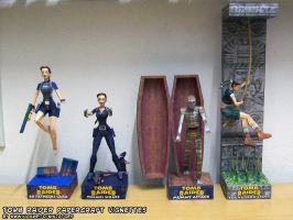 Tomb Raider 2, 3 and 4 papercraft vignettes by ninjatoespapercraft
