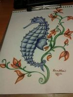 sea horse by KaraMiaTattoos