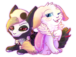 Witchy And Zelda Chibis By Cascadingserenity-d80vm by CylaDavenport