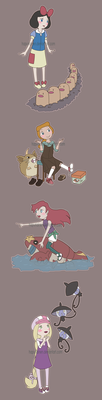 Random pokegirls by Hapuriainen