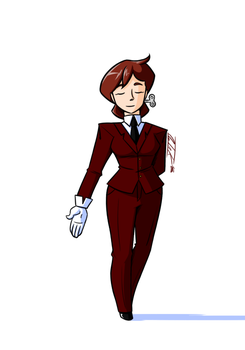 Lady in Tux by No-Ink