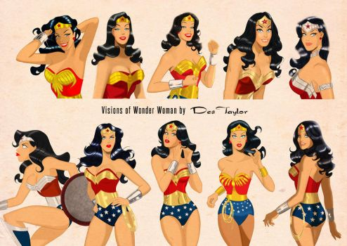 Visions of Wonder Woman by Des Taylor by DESPOP