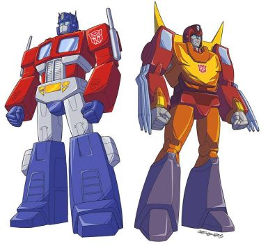 TF Optimus Prime and Rodimus Prime! by MarceloMatere