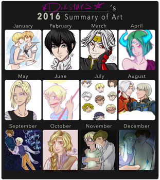 2016 Summary of Art by drkstars