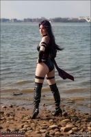 Psylocke: on the Beach by TresWildCosplay