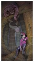 Alice and the Cheshire Cat by Ha-Jiel