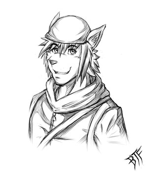 (COMMISSION) Alex sketch by BloodThirstyfang