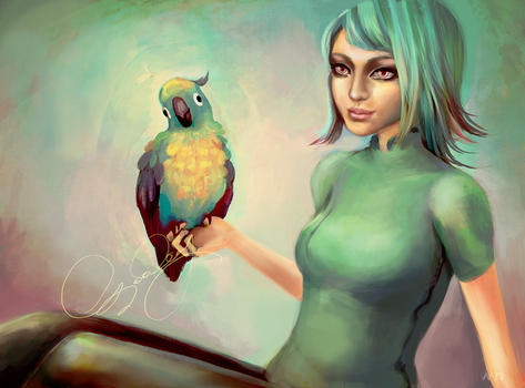 Parrot and I by rainytown