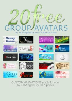 20 Free Group Avatars: Collaboration! by TehAngelsCry