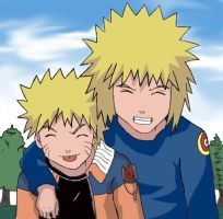 Naruto-Yondaime Coloured by Airesh
