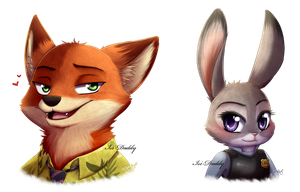 Zootopia - Nick and Judy by Isi-Daddy