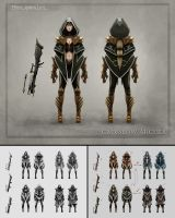 Character Design - Crossbow Archer by madmagnus