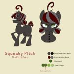 Squeaky Pitch Reference Sheet by Pimander1446