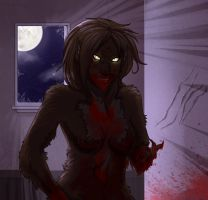 Through the window bloody by AlexGhost