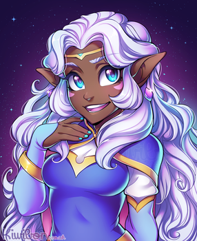 Allura!!! in space by Kiwibon