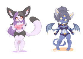 more Chibi Commission~ by punipaws