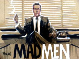 MAD MEN feat DRAPER by urban-barbarian
