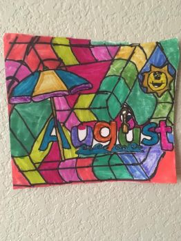 August Art Colorful Design Drawing  by NWeezyBlueStars23