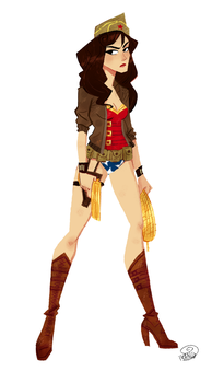 WWII Wonder Woman by chillyfranco