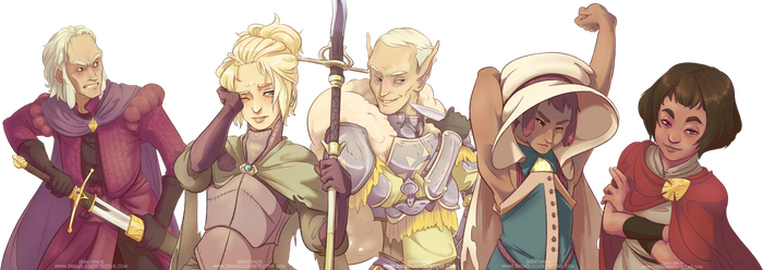 Eseth Character Collection by zeratanus