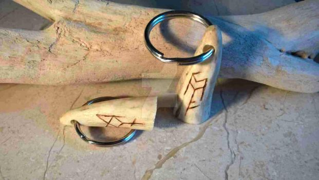Binding rune Key fob by InVistaArts