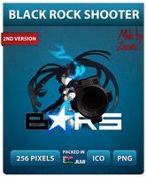 Black Rock Shooter Ver.2 - Anime Icon by Zazuma