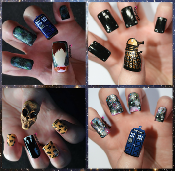 Doctor Who Nail Art Collection by KayleighOC