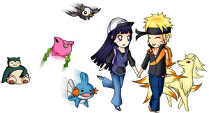 Request: NaruHina as Pokemon trainers